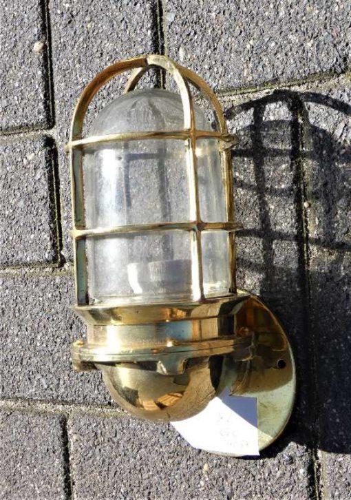 Vintage bronzen scheeps lamp-1
