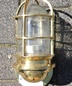 Vintage bronze ship lamp-2
