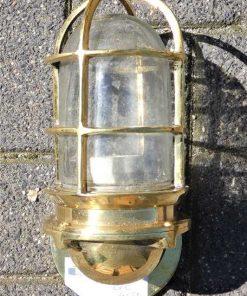 Vintage Schiffslampe Bronze -2