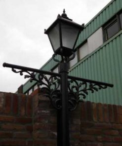 Black cast iron lantern posts-2