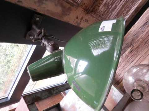 Industriele emaillen donkergroenewandlamp-2