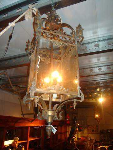 Quadratische Flurlampe Bronze-1