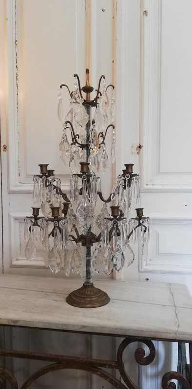Bronze candle holder / girandole-1