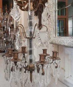 Bronze candle holder / girandole-3