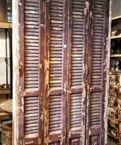 Antique Louvre Shutters / Doors In Frames-1