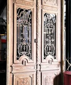 Antique French Style Outside Doors With Bronze-2