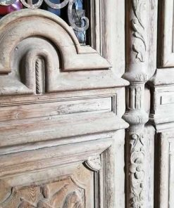 Antique French Style Outside Doors With Bronze-4