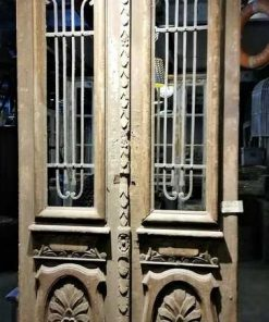 Antique Outside Door With Wrought Iron Ornamental Fence-1