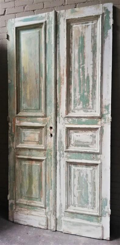 Antike doppelwandige Tür-1