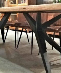 Sleek Acacia Dining Table With Dining Sofa-3