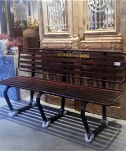 Vintage Iron Benches-1