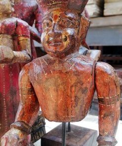 Old Colored Wooden Statues-3