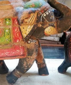 Wooden Colored Elephants-2