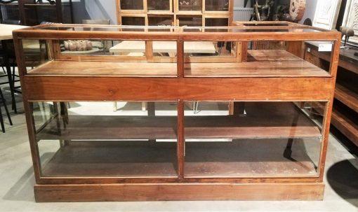 Antique Corner Display Case-1