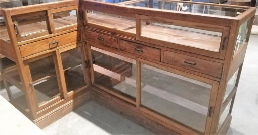 Antique Corner Display Case-3