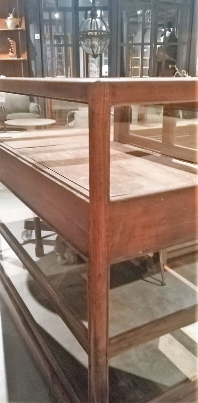 Antique Corner Display Case-4