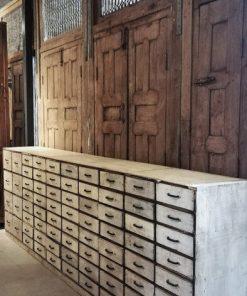Antieke Witte Ladekast Lxdxh 300x50x105 Cm-1