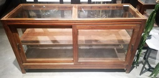 Antique Low Display Case Cupboard / Counter-1