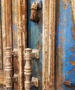 Antieke Blauwe Buiten Deuren-3