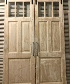 Antique Double Doors With Sliding System-1