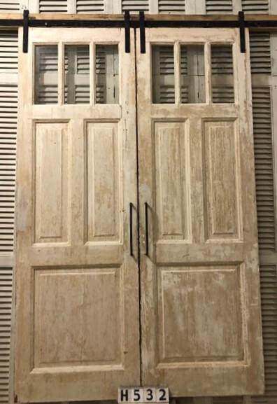 Antike Doppeltüren mit Schiebesystem-1