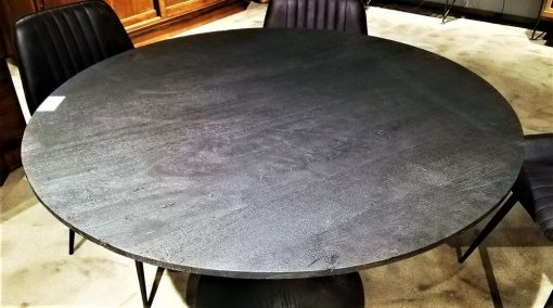 Black Round Wooden Table / Bar Table-2