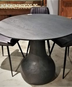 Black Round Wooden Table / Bar Table-5