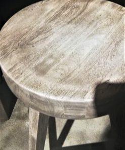 Gezandstraald Grijze Acacia Houten Bar Tafel / Kast-2