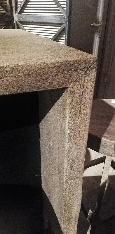 Gezandstraald Grijze Acacia Houten Bar Tafel / Kast-3