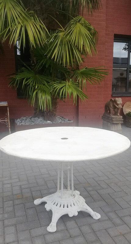 Witte Ronde Ijzeren Bistro Tafel-1