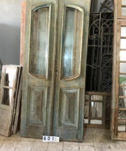 Antique Double Doors With Polished Glass-1