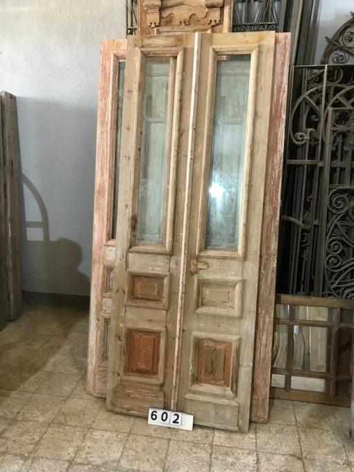 Antieke Binnen Deuren Met Geslepen Glas Hxb 240x90 Cm-1