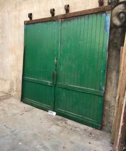 Large Vintage Industrial Sliding Doors-1