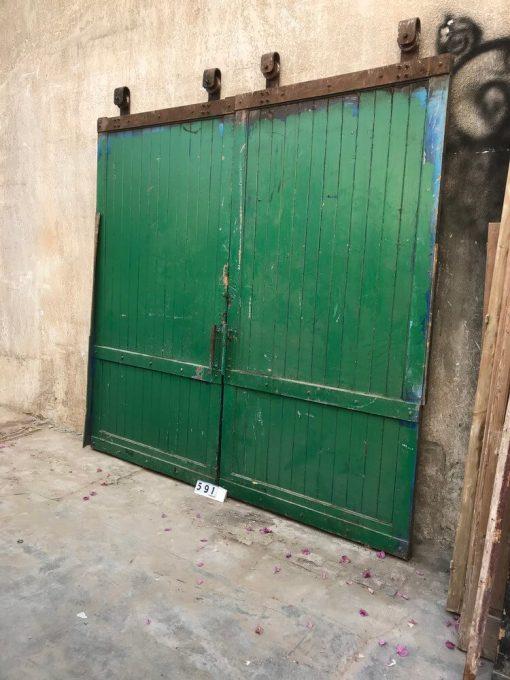 Large Vintage Industrial Sliding Doors-1