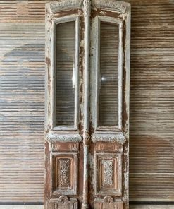 Antique Front Door With Polished Glass-1